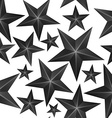 Abstract Black Stars Seamless Pattern vector image