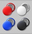 advertise blank color round metal buttons or vector image vector image