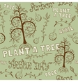 Arbor Day Hand Drawn Seamless Floral Pattern vector image vector image