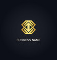 arrow up geometry company gold logo