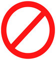 Ban sign red vector image vector image