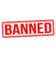 banned grunge rubber stamp vector image