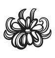 bio calendula icon simple style vector image