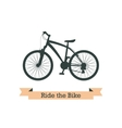 Black bike vector image