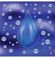 blue drop vector image vector image