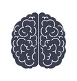 brain silhouette top view black icon mind vector image vector image