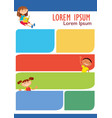 brochure backgrounds with cartoon children vector image vector image