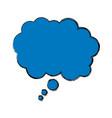 bubble speak dialog talk comic vector image vector image