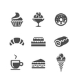 Cafe and confectionery icons vector image vector image
