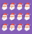 christmas santa claus emotion faces vector image vector image