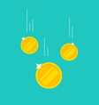 coins money falling or dropping flat vector image