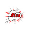 comic collection word nice 3d colored sound chat vector image vector image