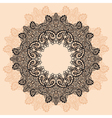 Contour MandalaOrnament round lace with Mandala vector image