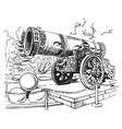 drawing tsar cannon moscow vector image vector image