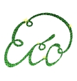 eco lettering tinsels vector image vector image