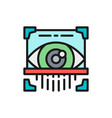 eye scan retina scanner id identity flat color vector image vector image