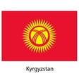Flag of the country kyrgystan vector image vector image