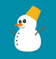 flat snowman vector image vector image