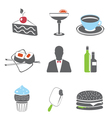 Foof icons set vector image vector image