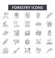 forestry line icons for web and mobile design vector image vector image