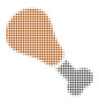 fried chicken leg halftone icon vector image