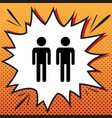 gay family sign comics style icon on pop vector image vector image