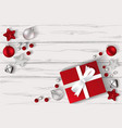 gift and christmas toys on the background of white vector image vector image