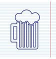 glass of beer sign navy line icon on vector image vector image