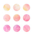 hand drawn watrcolor circles of pink and yellow vector image vector image