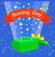 happy boxing day concept background flat style vector image vector image