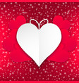 heart shape with red background vector image vector image