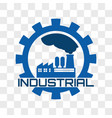 industrial logo isolated on transparent background vector image