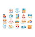 inspirational and motivational slogans set design vector image vector image