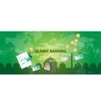 islamic banking sharia islam economy finance money vector image vector image