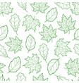 leaves seamless outline green light vector image
