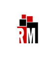 letter rm media vector image vector image