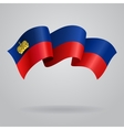 Liechtenstein waving Flag vector image