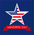memorial day usa star vector image vector image