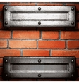 metal and brick background vector image