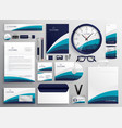 modern clean business stationery set for your vector image vector image