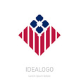 Modern stylish logo Design element with stripes vector image vector image