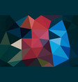 multicolored low poly background abstract polygon vector image vector image