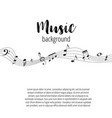 musical signs modern background with notes vector image