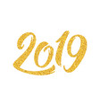 new year 2019 greeting card with calligraphy vector image vector image