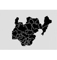 nigeria map - high detailed black map with vector image vector image