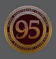 ninety fifth anniversary celebration logo symbol vector image