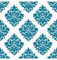 Ornate blue damask style floral pattern vector image vector image
