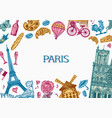 paris background in vintage retro style france vector image vector image