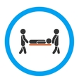 Patient Stretcher Rounded Icon vector image vector image