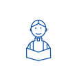 priest at wedding in church line icon concept vector image vector image